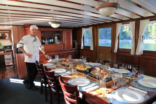 On your Alaska Cruise you'll be treated to Gourmet Meals in an elegant setting